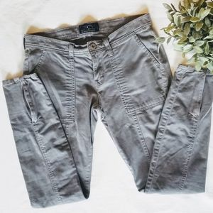 Lucky Brand skinny jeans with zippered ankles